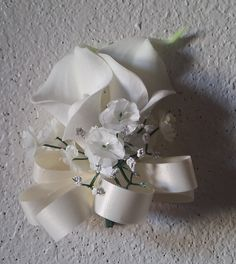 Ivory White Real Touch Calla Lily Shoulder Corsage * You can find out more details at the link of the image.
