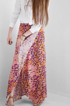 maxi wrap skirt, good tutorial