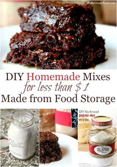 Tired of store bought mixes with questionable ingredients? Make these easy homemade mixes for less than $1 with food storage items already on hand. Best part, they taste amazing!