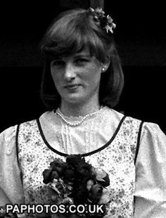 LADY DIANA SPENCER 1978: Lady Diana Spencer (later the Princess of Wales) when she acted as a bridesmaid at the wedding of her sister, Lady Jane Spencer, to Mr Robert Fellowes at the Guards' Chapel, Wellington Barracks, London.