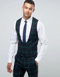 Green waistcoat asos