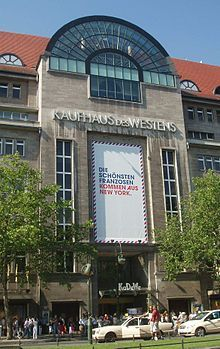 'KaDeWe' = Kaufhaus Des Westens -- Department store of the West. One of the most impressive stores I have ever seen. If you are in Berlin, check it out.