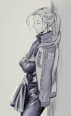 Artist - Previous Pinner: Victor/Viktor Nikiforov / Yuri on Ice / Comic Anime, Me Anime, Anime Guys, Manga Anime, Love On Ice, ユーリ!!! On Ice, Yuri Plisetsky, Yuri On Ice, Victor Nikiforov