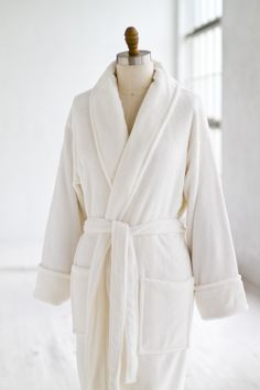 be244a1f57 Plush Velour Spa Robe White  Luxury  Spa  Robe  Plush  pamper