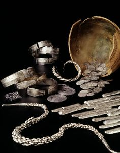 Viking hoard found in 1996 at Westerklief on the former island of Wieringen, The Netherlands. The treasure contained  Carolingian and Arab coins, bracelets and silver ingots, all buried in an earthenware pot. The coins date the treasure at around 850. Wieringen at that time was a part of Frisia.