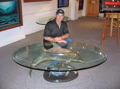 Dolphin Table by Wyland (one of my favorite artist.) <3 http://www.wylandgalleries.com