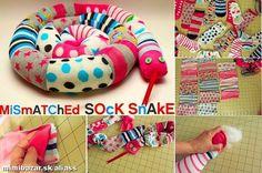ponožky farebný had