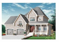 Country House Plan with 2208 Square Feet and 3 Bedrooms from Dream Home Source | House Plan Code DHSW69254