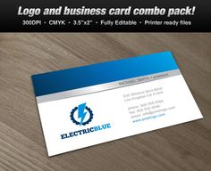 Logos design templates pinterest a logo business card set design suitable for electric themes logo design reheart Gallery