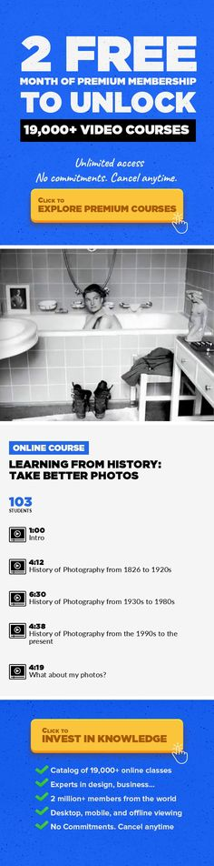 Learning from History: Take Better Photos Photography, Creative #onlinecourses #onlineclassestips #CoursesFree   Style has evolved since Joseph Nicéphore Niépce took the first photo from his window in 1826. But from daguerreotypes to instagrams, the photos that draw us in have the same elements and subject matter again and again. Photographers have known viewers like to look at pictures that hav...