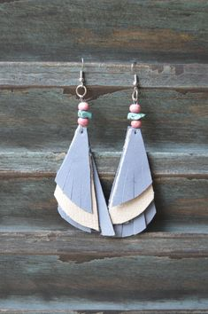 Handmade Leather Earrings from Thailand #144 · Purchase Effect · Online Store Powered by Storenvy