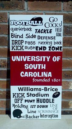 Items similar to South Carolina Gamecock Sign on Etsy University Of South Carolina, South Carolina Gamecocks, Football Love, Football Season, Gamecock Nation, Go Gamecocks, Carolina Football, Flap Hat, Hat Tutorial