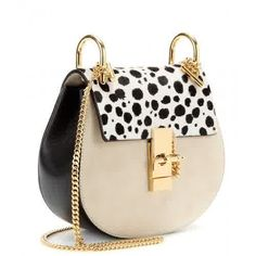 Chloe Drew Small Pony Hair and Leather Shoulder Bag