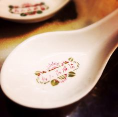 chinese porcelain spoon 為人民服務