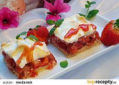 Jahodovo-sněhové kostky recept - TopRecepty.cz French Toast, Cheesecake, Breakfast, Food, Morning Coffee, Cheesecakes, Essen, Meals, Yemek