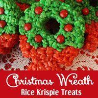 Christmas Wreath Rice Krispie Treats