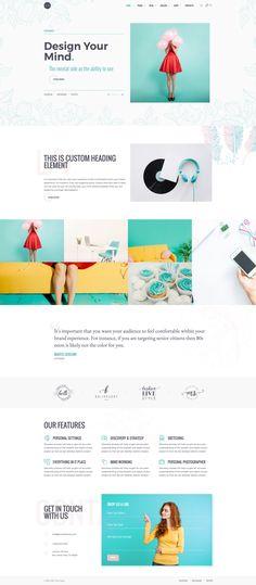 Design inspiration for creative portfolio website. WordPress Theme ...