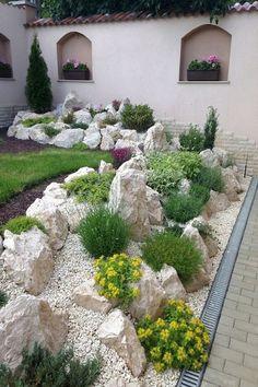 36 Gorgeous DIY Garden Landscaping Ideas You& Love Cheap Landscaping Ideas, Landscaping Supplies, Landscaping With Rocks, Front Yard Landscaping, Acreage Landscaping, Country Landscaping, Outdoor Landscaping, Rockery Garden, Terrace Garden