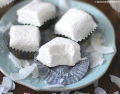 Healthy Coconut Fudge (low fat) - Desserts with Benefits