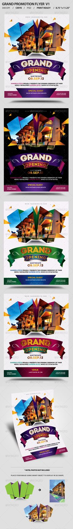 Grand Opening Event Flyer Design Template V1 - Events Flyers Design Template PSD. Download here: https://graphicriver.net/item/grand-opening-event-flyer-v1/5494208?ref=yinkira