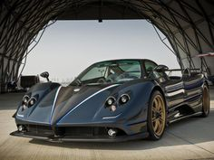 2010 Pagani Zonda Tricolore #car #blue