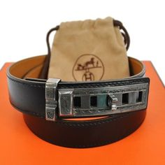 HERMES TOUAREG BELT BLACK BROWN GOLD LEATHER  FRANCE VINTAGE. Get the lowest price on HERMES TOUAREG BELT BLACK BROWN GOLD LEATHER  FRANCE VINTAGE and other fabulous designer clothing and accessories! Shop Tradesy now