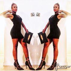 Saturday Flow: Femme Fatale💣💣💣 #allblack #littleblackdress #dinnernight #aldoaccessories #lookofthenight #fashionista #miamiblogger #leathergoods #curves #redlips #femmefatale #instafashion