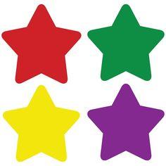 (12 PK) CHART SEALS STARS MULTI