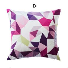 Painted Geometric throw pillow 18 in personalized couch cushions