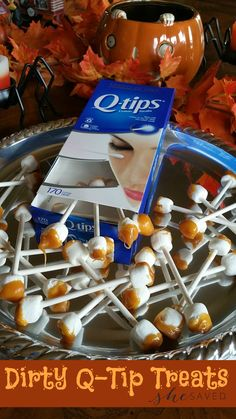 Looking for a GROSS treat idea for Halloween? These super gross Dirty Q-Tip…