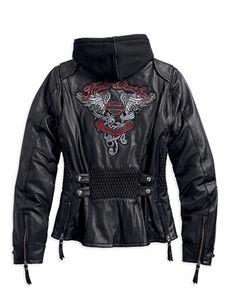 Harley Davidson Women's Amelia 3-in-1 Leather Jacket 97189-14VW