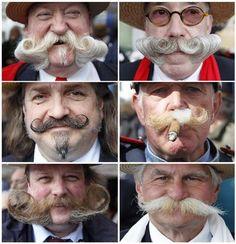 Concurso na Bélgica de bigodes! Qual o seu preferido?