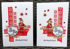 Julekort med washitape-1-red