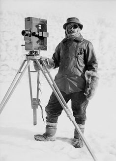 Herbert Ponting of the Terra Nova Expedition, Antarctica, circa 1911.