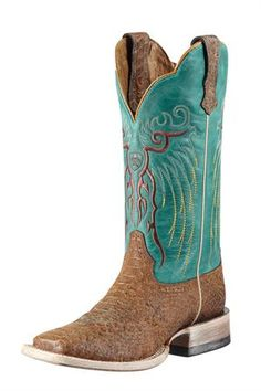 1e2a82125ea7 Ariat Women s Mesteno Turquoise Brown Reptile Print Cowgirl Boots (Best  boots ever)