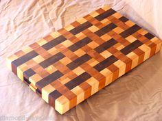 "2""Thick End Grain Bucther Block Cutting Board Walnut Cherry Maple Hardwood USA   eBay"