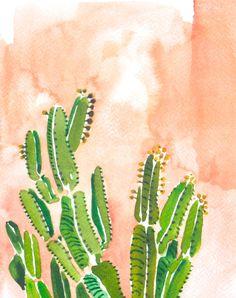 Pink Cactus Print, from Stripe, www.stripedesigngroup.com