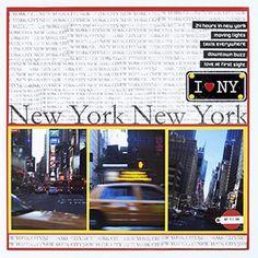 New York, New York Scrapbook Layout