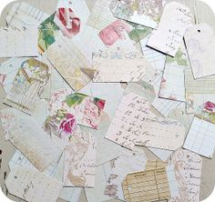 LAST SET  Assorted Shabby Vintage Ledger by LittlePaperFarmhouse, $5.95