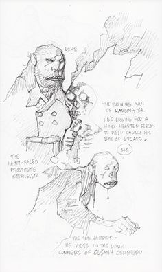 Bilderesultat for mike mignola sketches