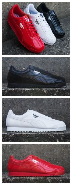 new concept 84fee 57972 The classic PUMA Roma gets a smooth, patent finish.