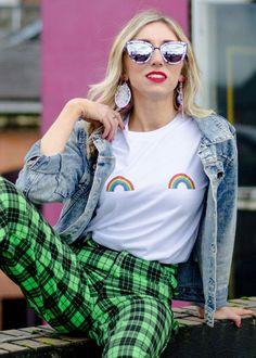Rainbow Boob T shirt