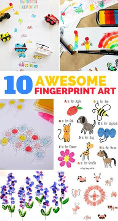 10 Awesome and Fun Fingerprint Art Project for Kids.