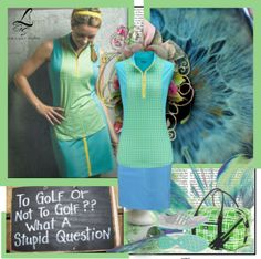 Perfect blue and green color combo exclusive golf style at lorisgolfshoppe.polyvore.com #golf #fashion #ootd #lorisgolfshoppe