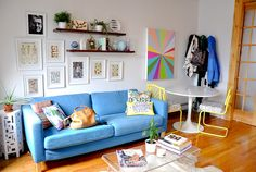 stacy anne longenecker's living room. love the colors and the style