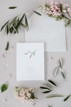 Tuscany Botanical Wedding Watercolor Invitations by Love Prints - Agata Sołyga