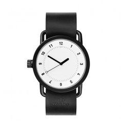 No. 1 Leder-Armbanduhr - Ws/Sw