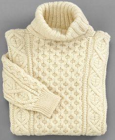 10 Rugged Sweaters to Wear All Year-- Aran fisherman sweater, $76.90