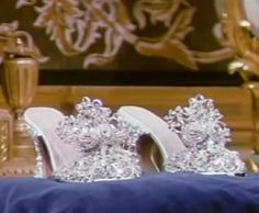 The slippers from Slipper and the Rose. I wouldn't dare...but I always loved them. The filigree design is lovely.