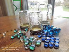 how to make garden treasure jars, crafts